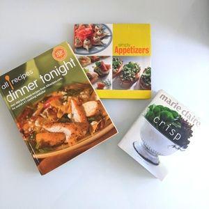 Set of 3 cookbooks